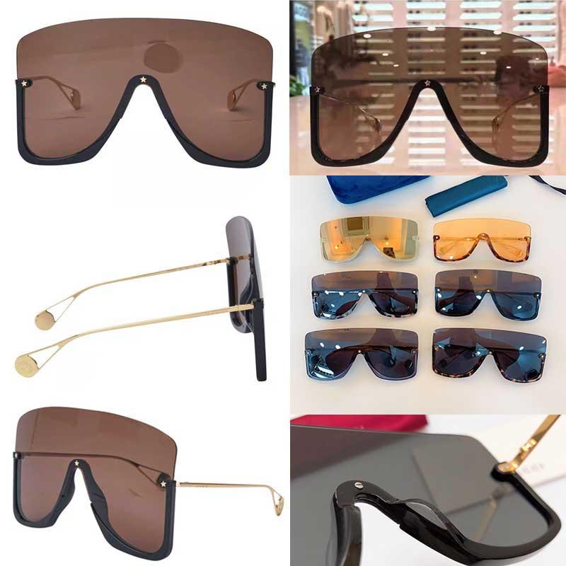 Новый дизайнер моды очки 0540S один цельного кадр большого размера половины кадра очки супер большое авангардный популярные высшее качество 0540