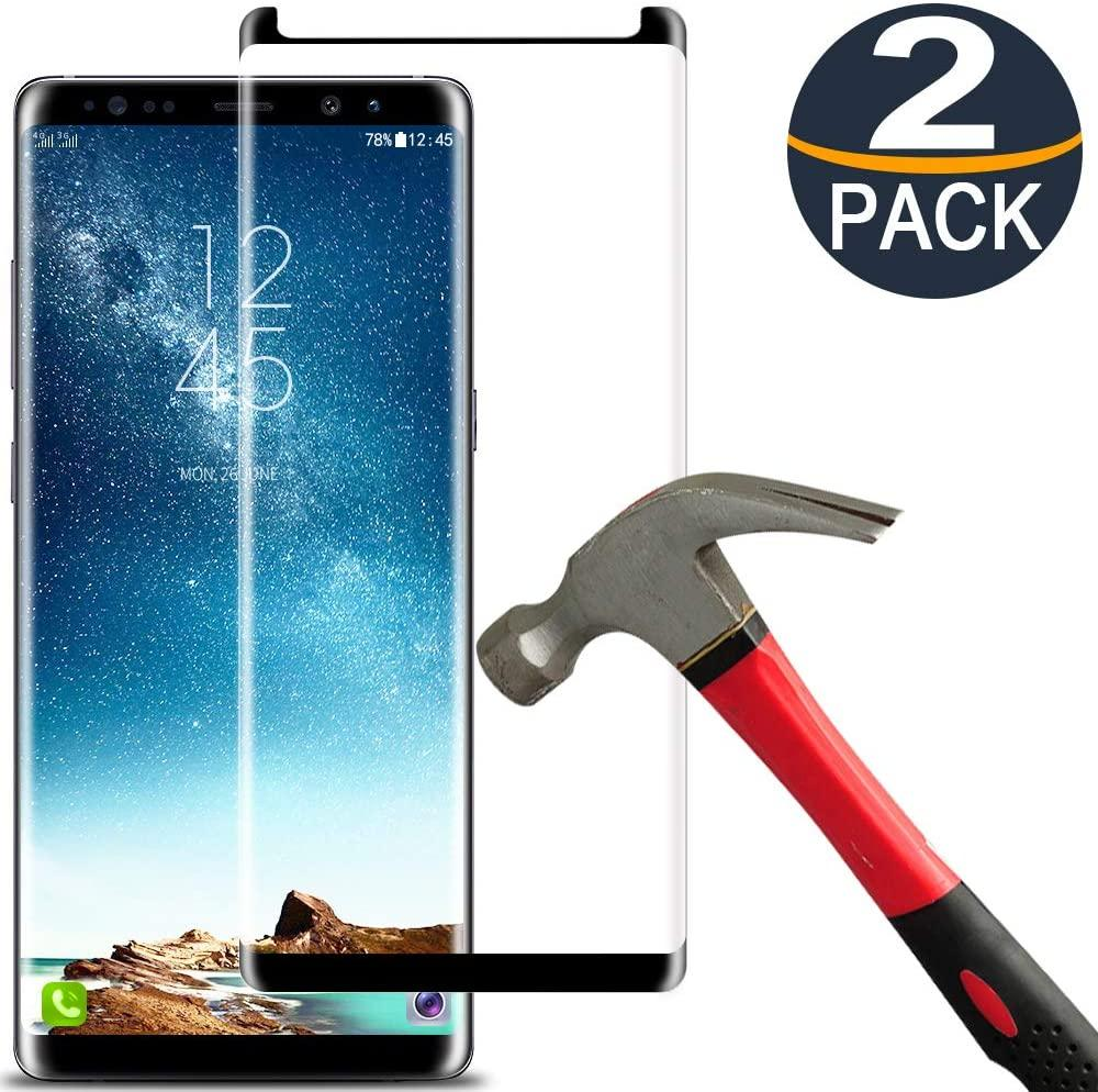 Samsung Galaxy Note 8 Screen Protector Tempered Glass Film Anti-Bubble 3D Curved Full Coverage 9H Hardness Tempered Glass