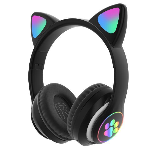 Fahsion Bluetooth Наушники Светящиеся Симпатичные Светодиодные CAT CAUN PAW Гарнитура Wireless VS F9 B10 Для iPhone 11 12 Samsung Горячая распродажа