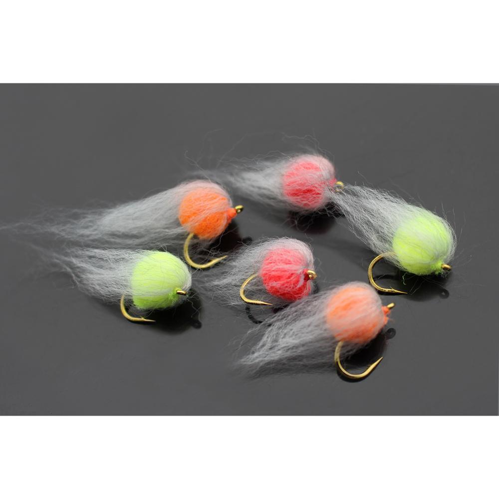 Tigofly 30 Adet / grup 3 Renkler Nuke Yumurta Fly Glo Böcek Fly Balıkçılık Sinekleri Boyutu 8 Boyutu Lures # 201102