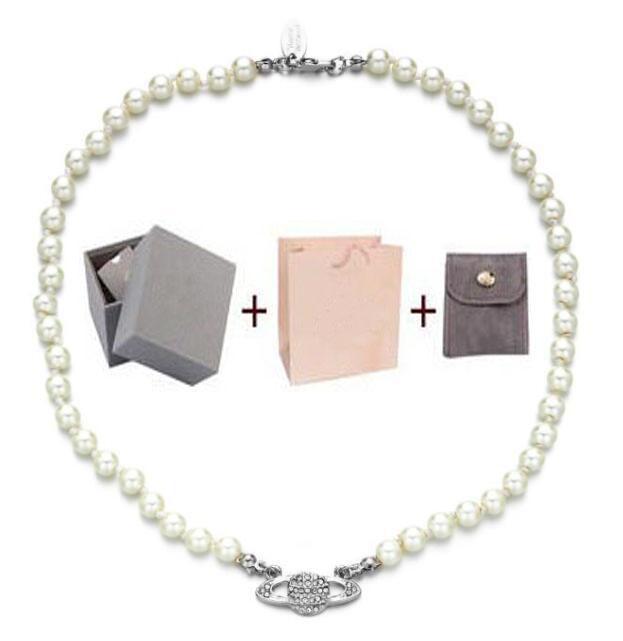 Mit box mode kristall satellite planet perle halskette clavicle kette halskette barock choker für frauen party schmuck geschenk