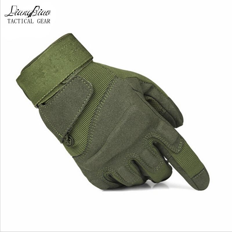 التدريب تسلق الجيش قفازات التكتيكية قفازات الرجال درع حماية قذيفة قفازات الأصابع كامل 201020