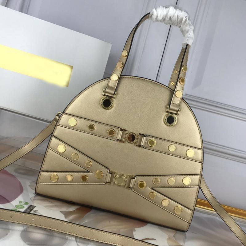 패션 어깨 가방 핸드백 추구하는 고품질 정품 가죽 일반 금속 아트웍 일반 여성 토트 백 빠른 배송 지퍼