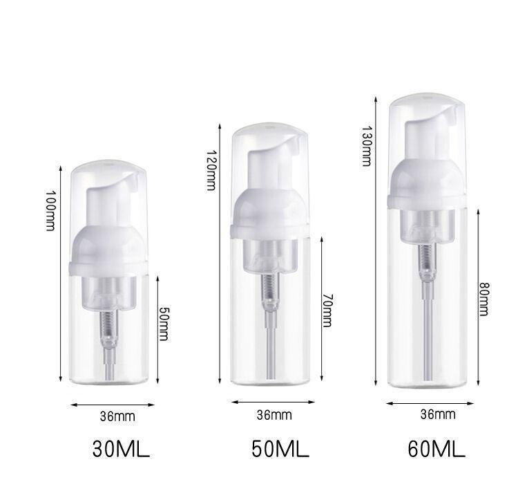 Kalite Beyaz Temizle 30 ml 60 ml Plastik Sabunluk Şişesi Temizle Beyaz Köpük Pompa Şişe Sabun Mousses Sıvı Dispen Sqchjd HOMES2007