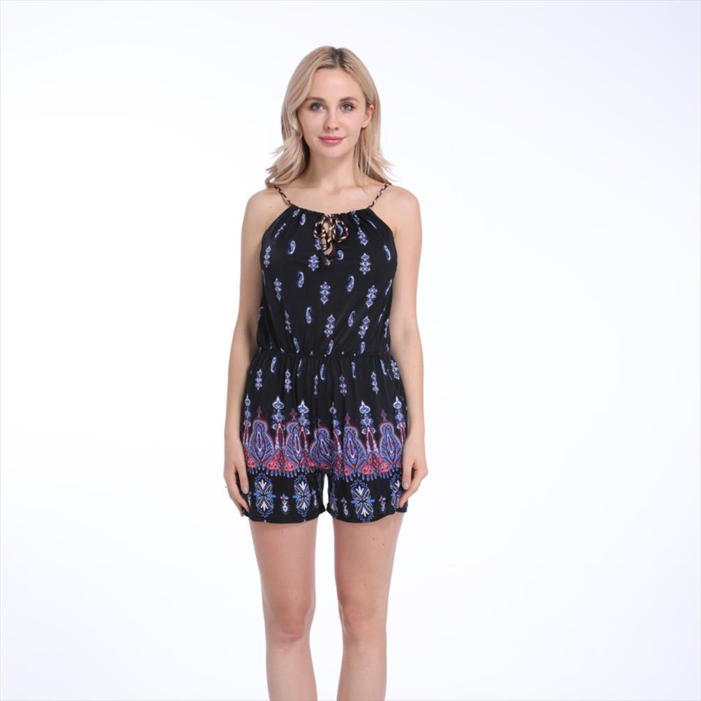2019 Sommer-Frauen-Satz-Kleidung Fashion Westen Shorts Cashew Printing Set 2 Stück Frau Kleidung Cool