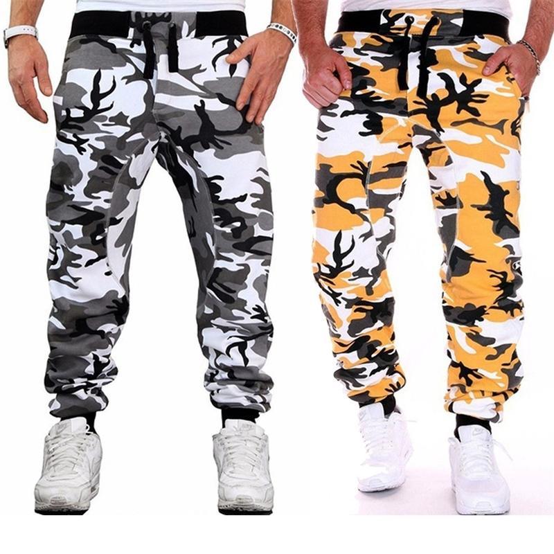 Zogaa Hombre Camuflaje Pantalones Hip Hop Style Plised Harem Pantalones deportivos masculinos Swears Posts Size S-3XL Bolsets Pantalones para hombres Y201123