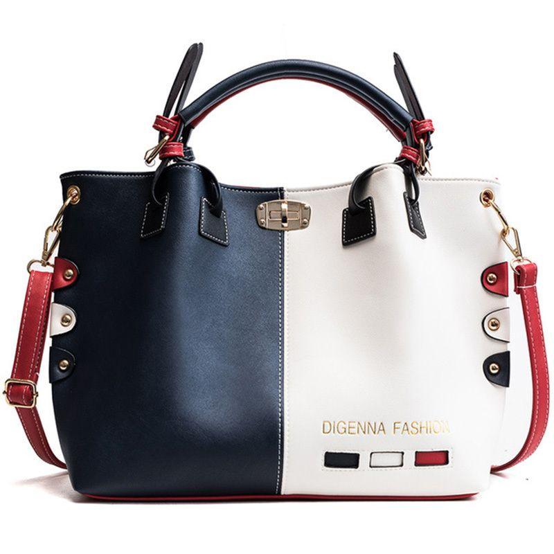 Luxury Handbag Women Bags Designer High Quality PU Leather Crossbody Casual Large Ladies Shoulder Bag Brand Big Travel Shopping Q1110
