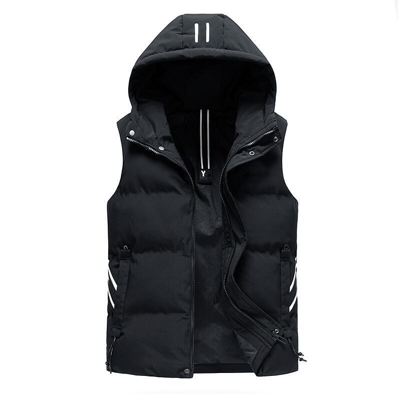 Осень Зима рукавов куртки Hoodie мужчины жилет хлопка мягкий теплый флис Подкладка Мужские пальто Zipper Cardigans Weste L-4XL Plus Size