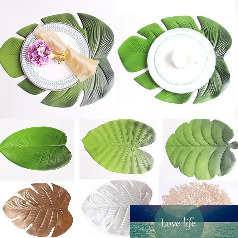 Copa Accesorios de cocina Lotus hoja Palma Hoja Mesa de centro Posavasadores para placemat Placemat Simulación Planta 1pc Mesa Mesa
