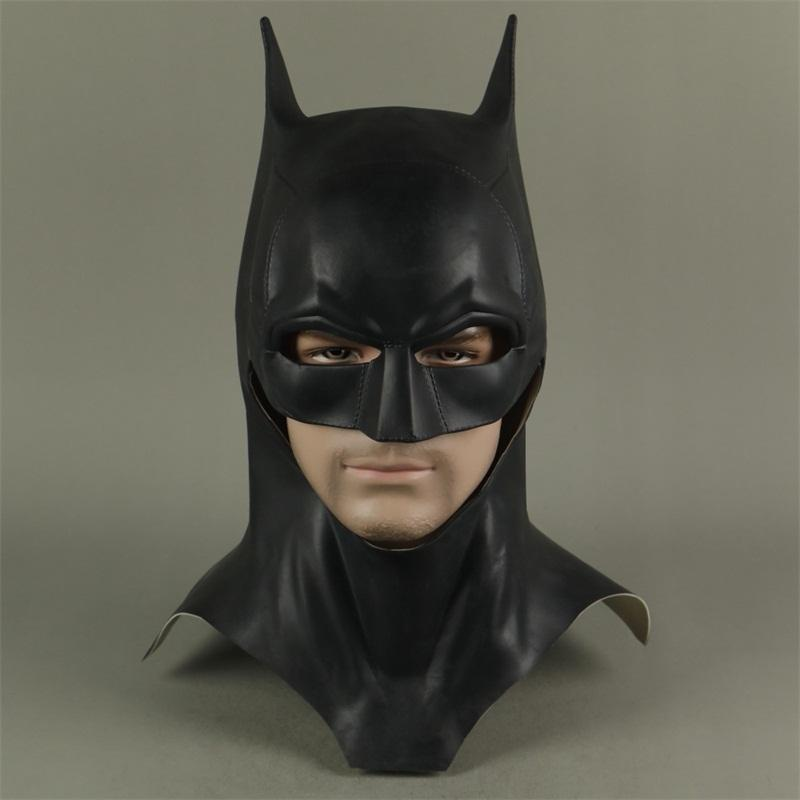 The Batman Bruce Wayne Latex Mask Superhero Movie Cosplay Disfraz Halloween Party Masks