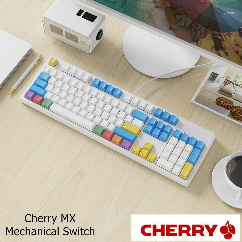 Gruesa personalizable PBT KEYCAP AJAZZ AJAZZ AK535 USB Luz blanca con cable Teclado mecánico Cherry MX Mecánico Switch1