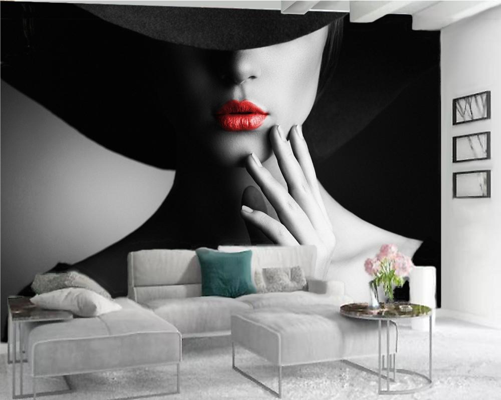 Duvar Kağıtları Ev Dekorasyonu Lüks Duvar kağıdı Güzel Seksi Güzellik Salon Yatak odası Wallcovering HD 3d Duvar kağıdı 3d