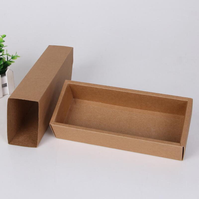 Eco Friendly Kraft Paper Cardboard Drawer Gift Packaging Box Socks Underwear Storage Paper Box LX8108