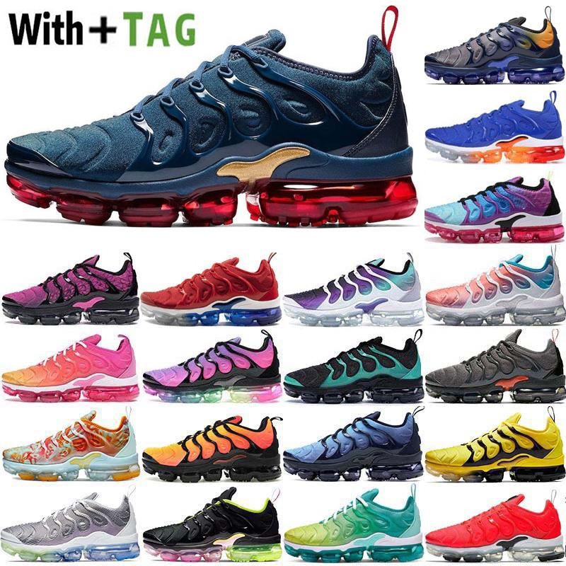 2021 Factory_footwear Yastık OG TN Artı Erkek Koşu Ayakkabıları Midnight Donanma Degradeler Mavi ABD Obsidiyen Fotoğraf Üzüm Kadın Sneakers Spor Eğitmenleri Boyutu 36-45
