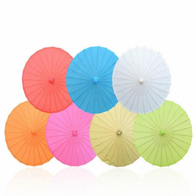Nuovo 20/30/40/60/80 centimetri a mano carta colorata ombrello tradizionale capretti DIY Pittura Ombrello di carta Decor Arti e Mestieri Forniture m5GB #