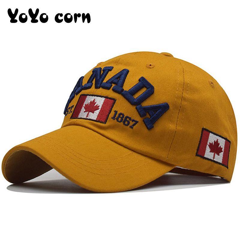 Me encanta Canadá NUEVO algodón lavado gorra de béisbol snapback sombrero para hombres mujeres papá sombrero bordado casual sombreros casquette hip hop caps c0123