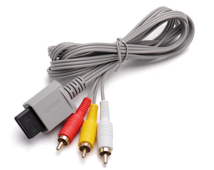 Hızlı Kargo 500 adet Lot 1.8 M Ses Video AV Kompozit Wii Kabloları için 3 RCA Kablosu