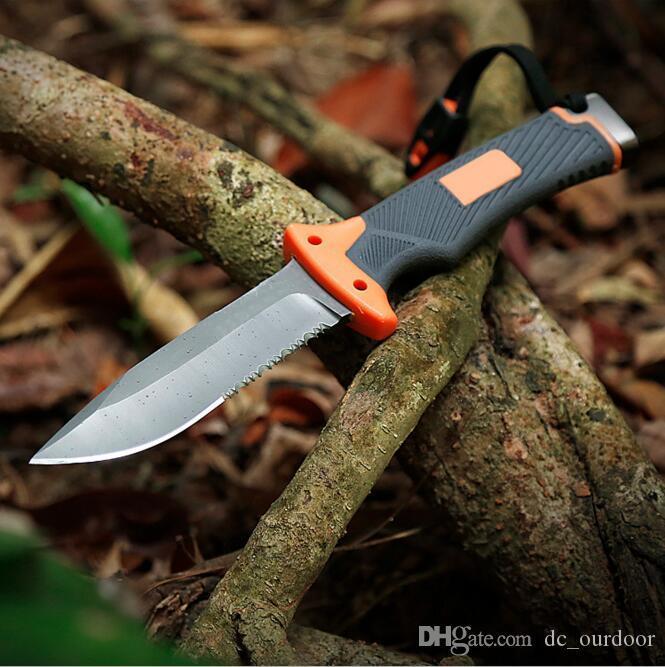 Outdoor Camping Jagd Überlebensmesser Fixed Blade Messer 56HRC TACTICAL Messer Volle Klinge / halb gezackte Klingenversion EDC-Geschenk t