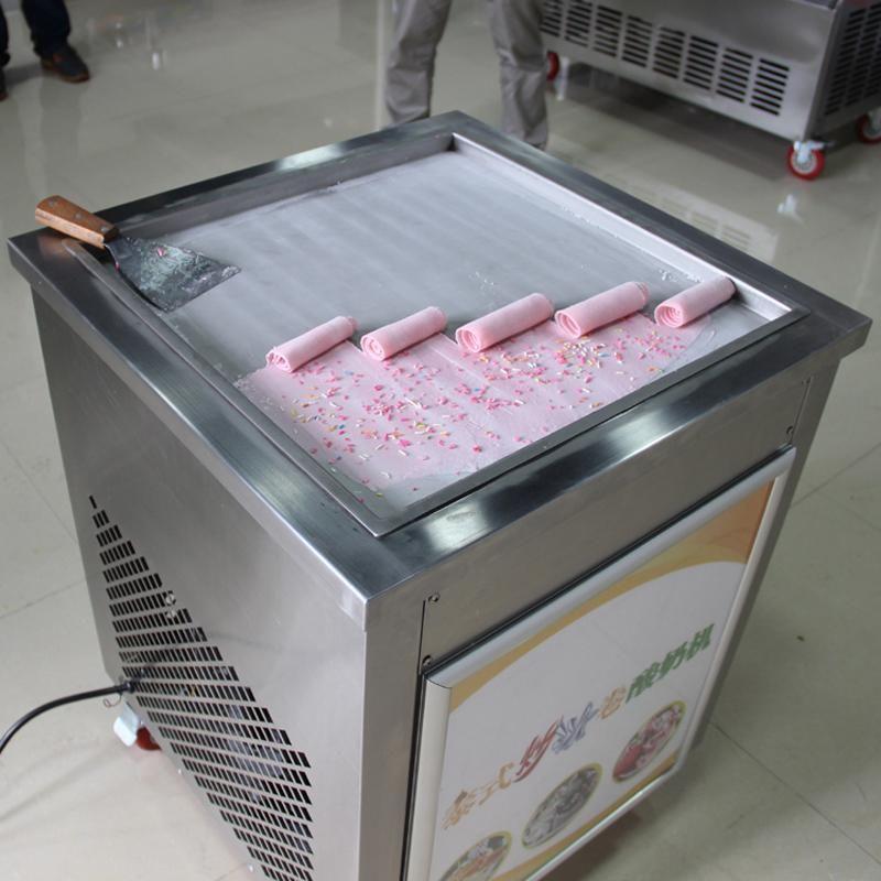 15KG / H fritto macchina del gelato una padella piatta ice cream produttore