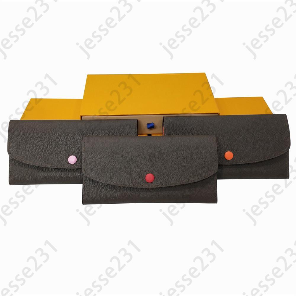 modo all'ingrosso 3 colori singolo cerniera portafogli in pelle Pocke uomini donne signora signore borsa lunga della carta Holde con sacchetto di polvere carta della scatola