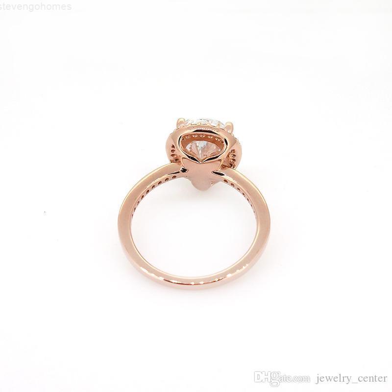 Factory4Fehring CZ 18K падение розовый бриллиант золотой слеза оригинальные коробки Pandora 925 стерлинговые серебряные кольца для женщин свадебный подарок