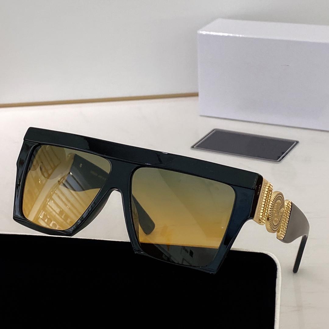 Поляризационные солнцезащитные очки Полная рамка Винтаж Дизайнер 4396 Солнцезащитные очки Для Мужчин Блестящие Золотые Горячие Продают Позолоченное Высокое качество 1.1 Солнцезащитные очки с