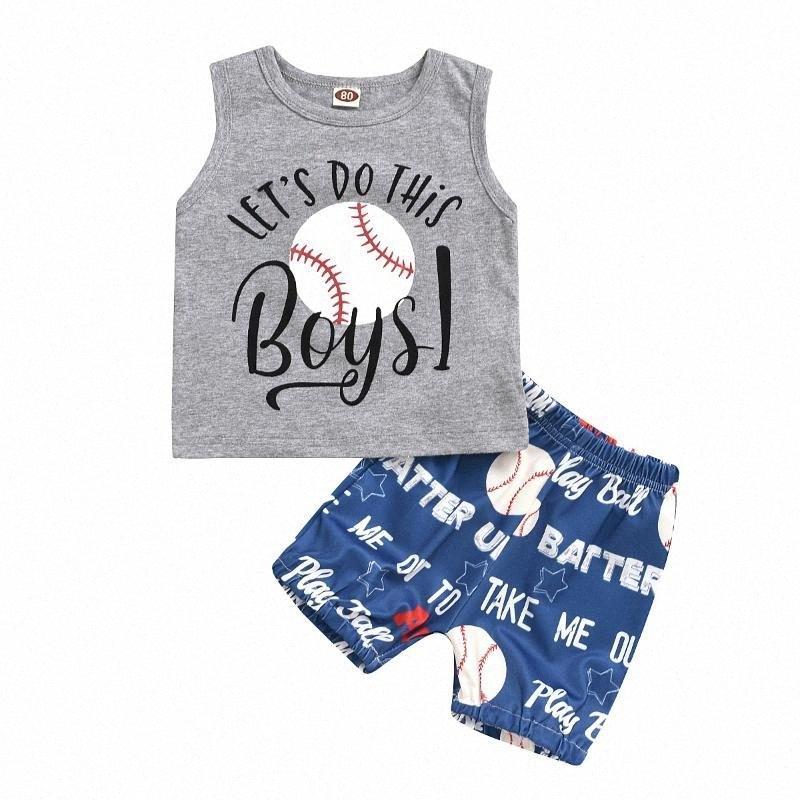 0-3Y Newborn Infant Baby Boys Clothes Sets Letter Print Romper/Vest Tops+Shorts/Pants Hats Outfits fUIb#
