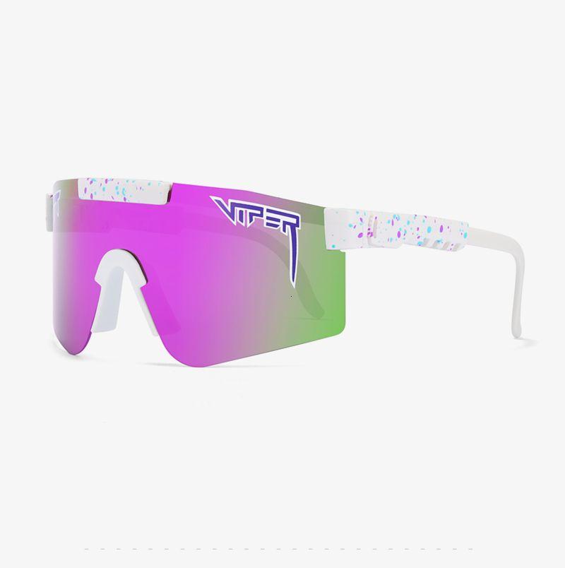 Pit Viper Спорт поляризованные очки для мужчин / женщин двойной ширины TR90 кадров ветрозащитный Зеркальный объектив Pv01-С20