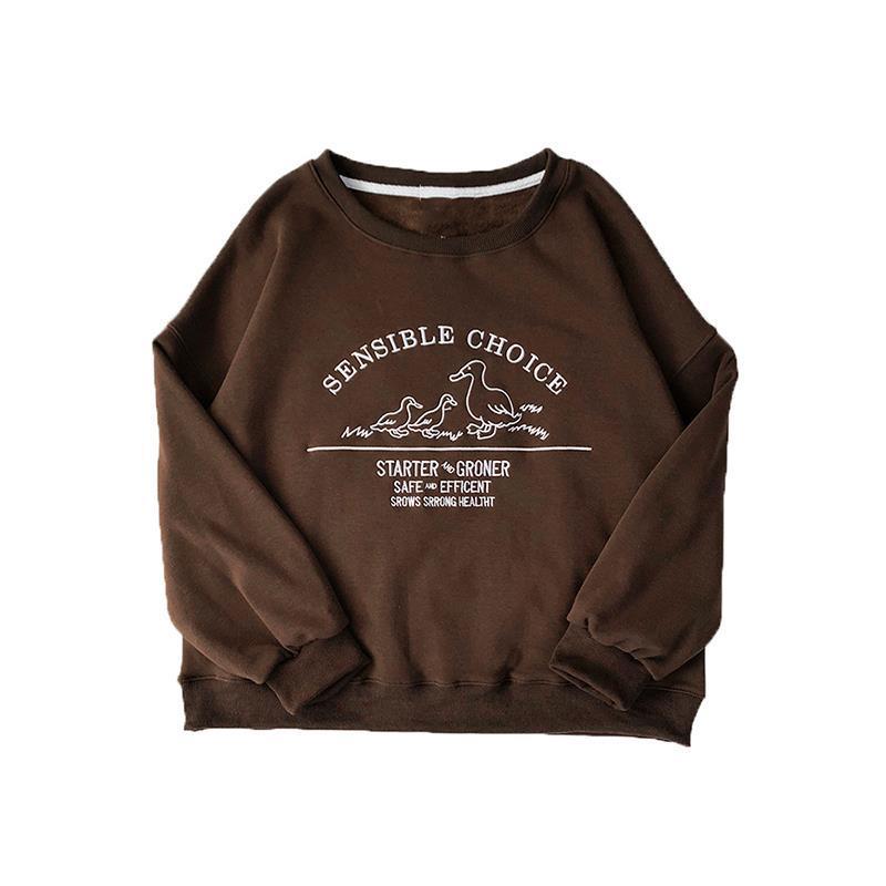 Lässige Buchstabe des Frauen Lose und Pullover Herbst Frühlings-Sweatshirt 2020 MIOBL