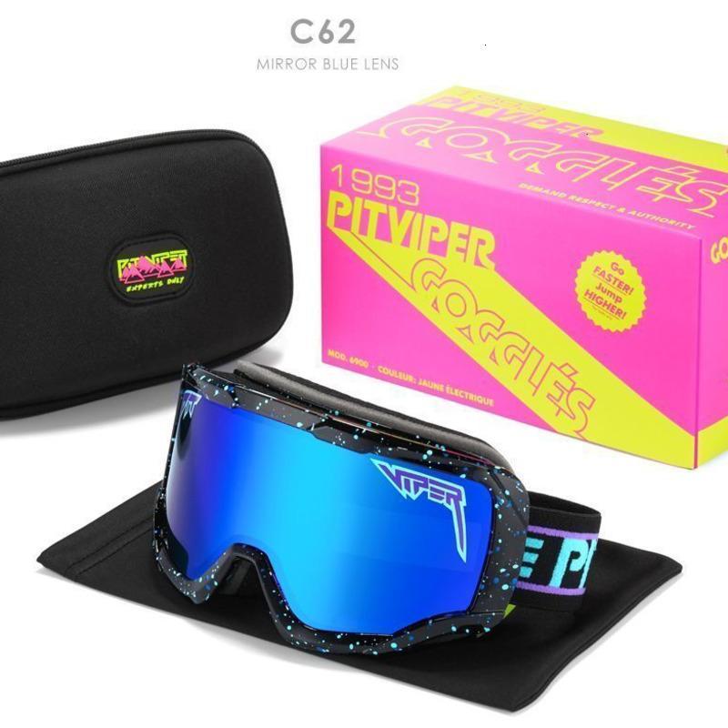 2021 Los años 90 llamados Gafas de sol Pit Viper Polarizadas Ski Ski Goggles Shades 60% de descuento al por menor y al por mayor 49DZ