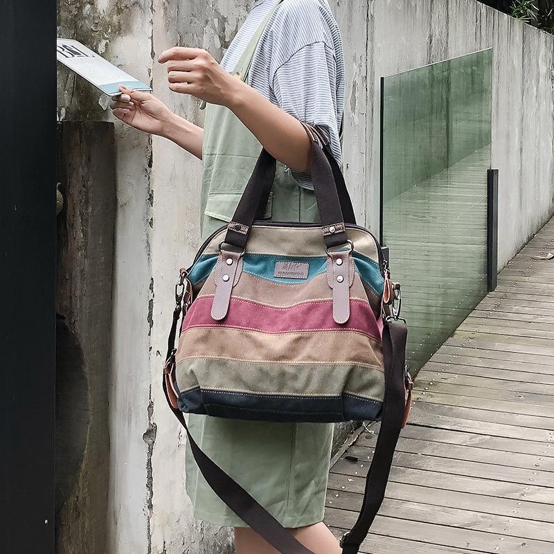 Новая сумка Большая сумка Повседневная мода плеча Crossbody мешок большой емкости леди сумки Цвет нашивки пакет C41-51