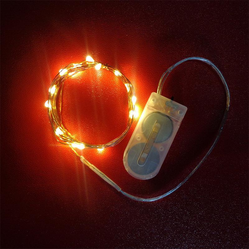 2032 Botão Bateria Caixa de Cobre Cobra Corda Eletrônica Fio De Cobre Lâmpada De Natal Festival Decoração Hotel Casamento Arroz Lâmpada