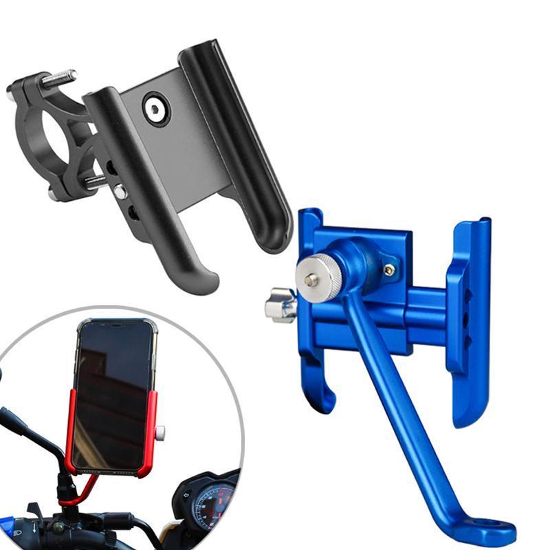 Ypay Aluminium Motorrad Telefonhalter Rückhalterung Fahrrad Telefonständer Fahrradlenker Mobile Unterstützung Halterung für x 11
