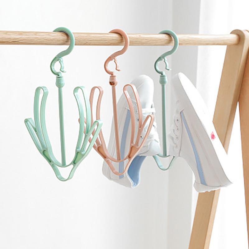 Plastic Shoe Racks Underwear Drying Rack Plain Rotation Hook Hanger Small Hooks Up For Outdoor Random Color