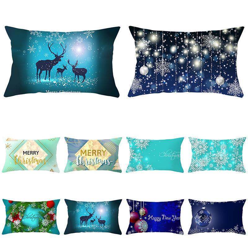 Azul de la serie 2020 funda de almohada de terciopelo de piel de melocotón cintura Sofá Funda de almohada Home Products