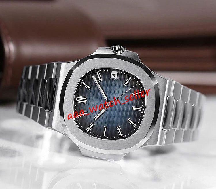 U1 Verison 18 Styles Luxury Mens Montres 40mm 5711 5711R 5711A Sapphire Sapphire Gravée Mécanique Mouvement Sport Sport Wirewatches