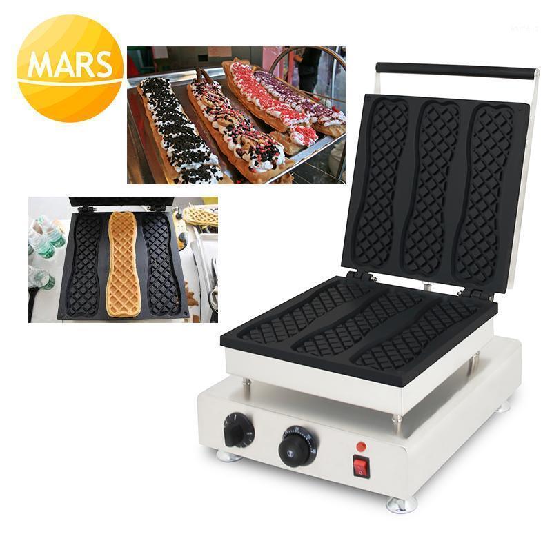 Koreanische lange Waffelhersteller Maschine 110V 220V Eiscreme Pizza Waffel-Stick Eisen Baker-Platten-Herstellung von Platten1