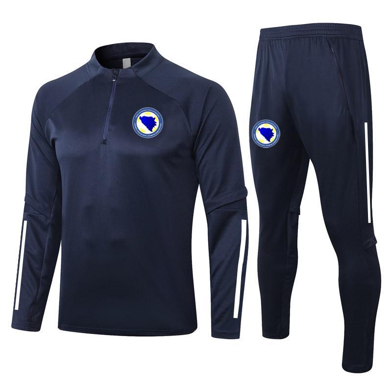 2021 Bosna-Hersek Eşofman Kitleri Survetement Futbol Eğitim Suit Maillot De Ayak Seti Futbol Koşu Eşofman Koşu Setleri Setleri