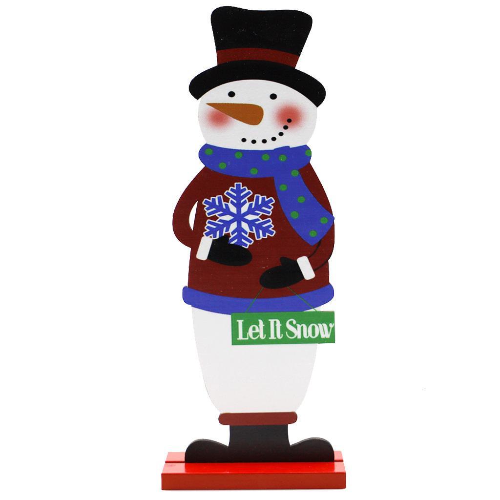 Claus DHL de madeira do Natal Caráter Decoração de Santa do boneco de neve Ornamento dos cervos Craft Home Office desktop Decor Xmas presente Gwd1721