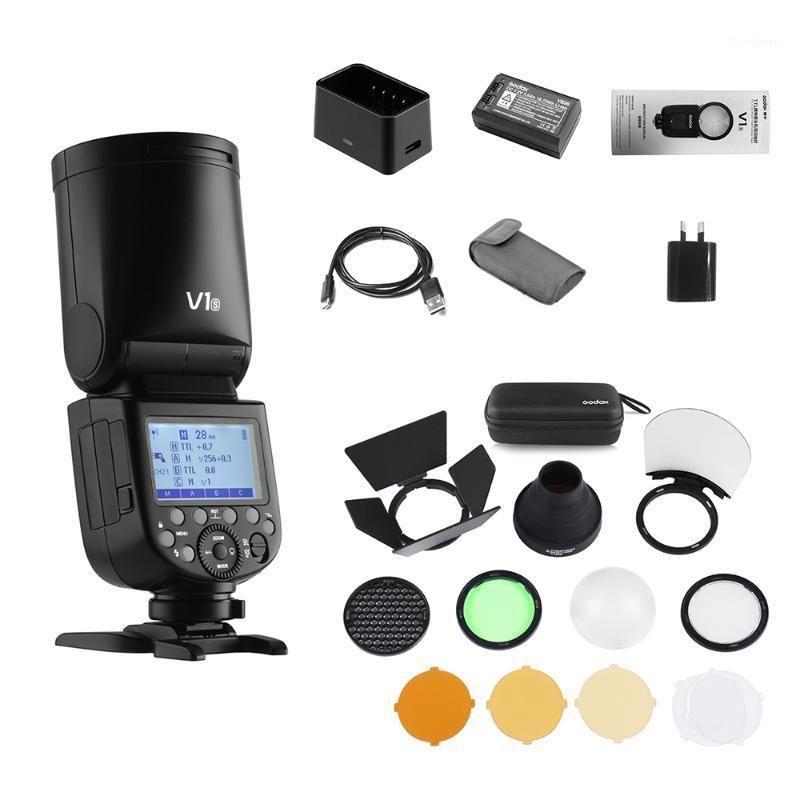 Godox V1S Professional Camera studio Flash Speedlite Round Head Wireless 2.4G Fresnel Zoom for a7RII a7R a58 a99 Speedlight1