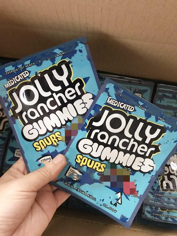 İlaçlı Jolly Rancher Gummies Çanta Ekşi 3.5g Mylar Çanta Kuru Herb Çiçek Eski Kenaralar Paketleme Kılıfı