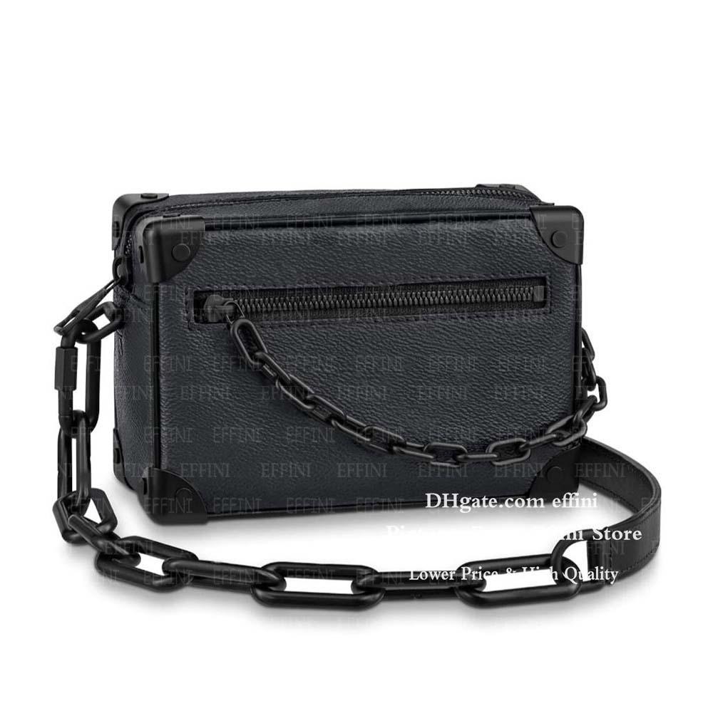 Багажник Satchle Bag Box мягкий кошельки плечевой дизайнеры мода кожа роскошь цепь мини-сумки сумка сумка подлинная симметричная сумочка крест QGMU