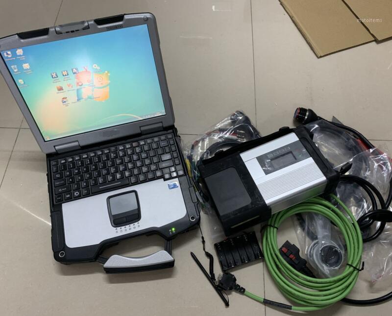 Super MB STAR C5 SD Connectez-vous avec un disque dur logiciel avec ordinateur portable CF-30 Prêt à utiliser le diagnostic de voiture et de camion récent prêt à l'emploi1
