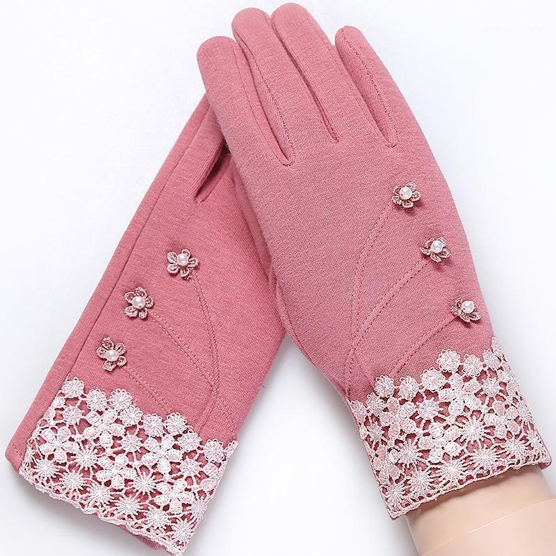 Cinq doigts Gants Plein Finger Eductionnelle en plein air Gardez des gants de velours à cyclisme chaud1