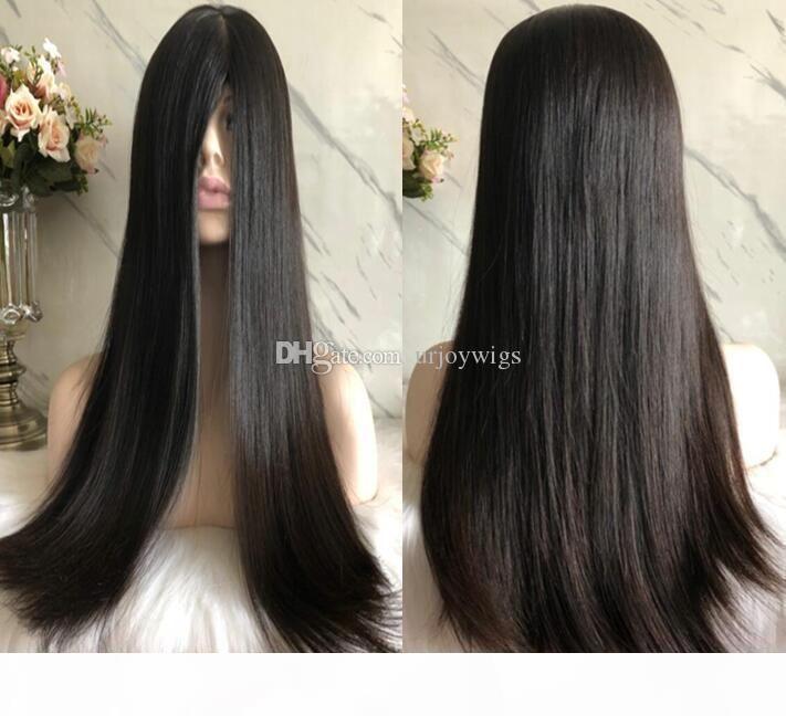 Kosher Wigs 12A Grade Hair Black Color #1b Finest Brazilian Virgin Human Hair Silky Straight 4x4 Silk Top Base Jewish Wig Free Shipping