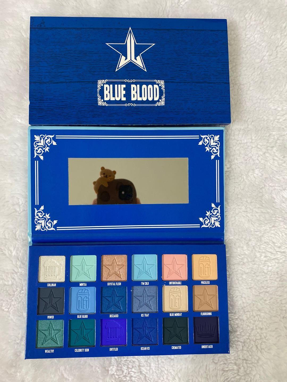 2020 Горячие Продажи JS Blue Blood Mury 18Colors Palette Eyeshadow JS Усовершенствованный синий тональный мерцающий блеск Матовый порошок