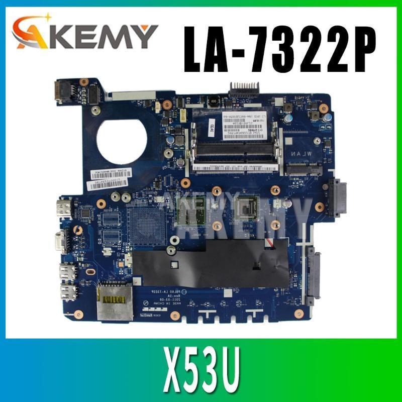 X53U Motherboard for ASUS K53U X53B K53B X53BY X53BR LA-7322P laptop Motherboard X53U Mainboard E-350U 2cores