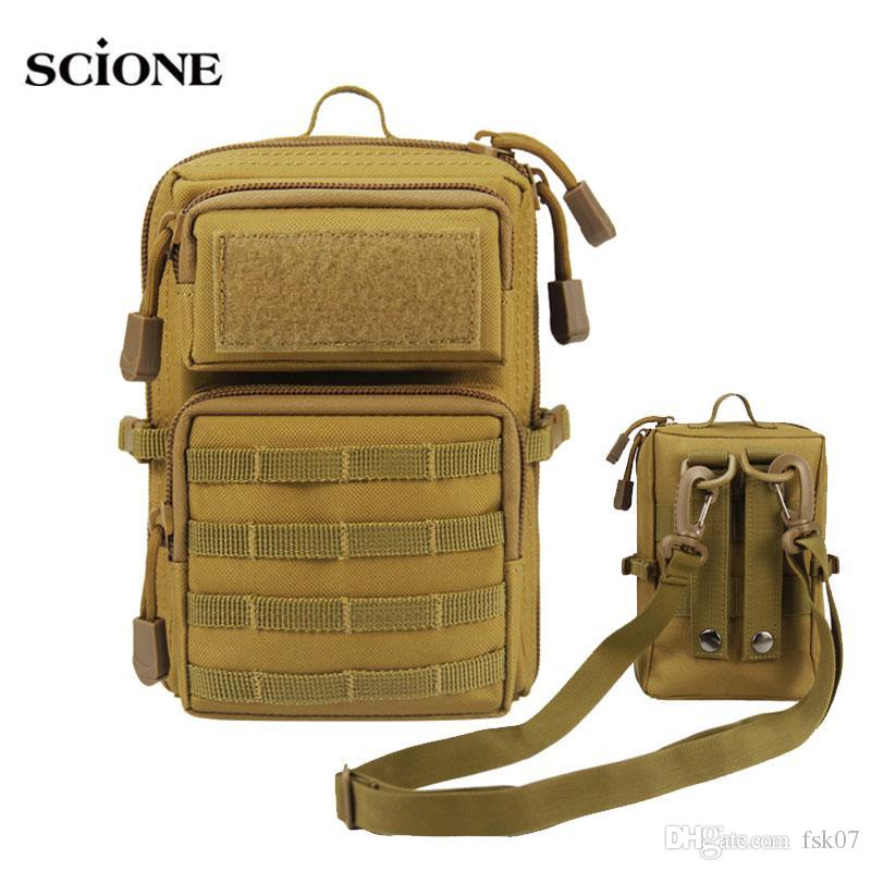 حقائب نظام رخوة التكتيكية حقيبة الهاتف المحمول الجيش الحقيبة الرياضة في الهواء الطلق متعدد الوظائف 1000D نايلون حقيبة فاني حزمة XA106A