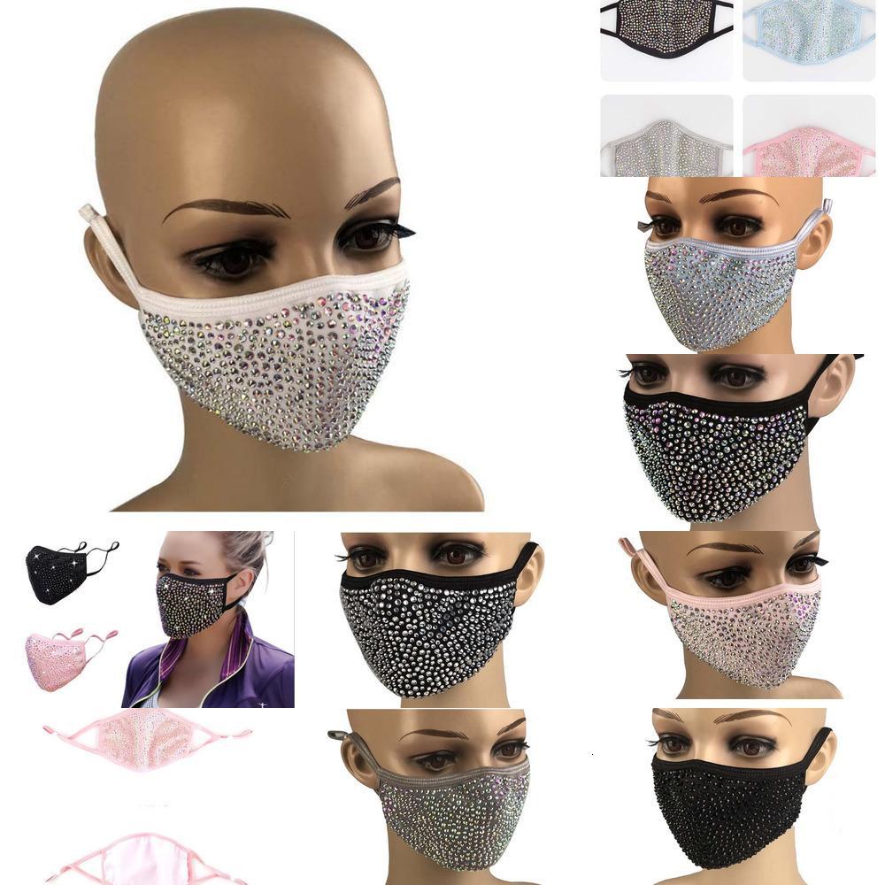 Пылезащитный завод Популярные Bling Sequin моющийся защитный ветрозащитный повторный звучание лица упругие упругие раковины маска рта GGB2411 1 PMWLO