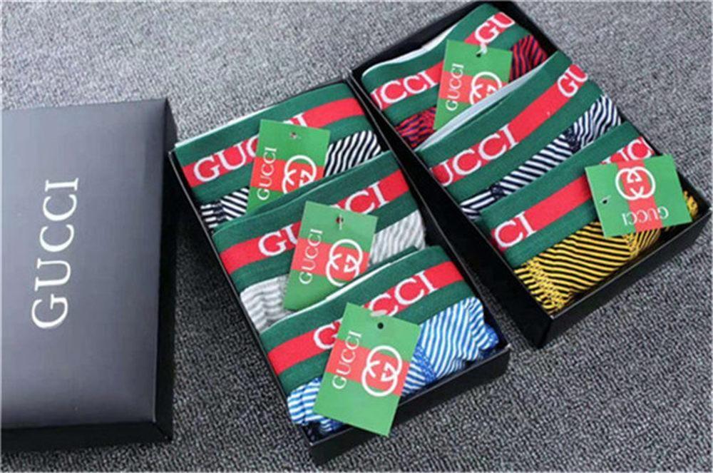 Gucci Mens Shorts retrò lettera stampa progettista del Mens pugili Mutande da uomo biancheria intima dei pantaloni della spiaggia degli uomini biancheria intima Boxe